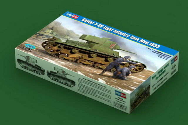 HobbyBoss Model kit #82495 1/35 Soviet T-26 Light Infantry Tank Mod.1933
