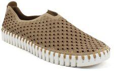 Ilse Jacobsen Tulip 139 Latte Nude Slip-On Scalloped Sneaker Shoe 38EU 7 New