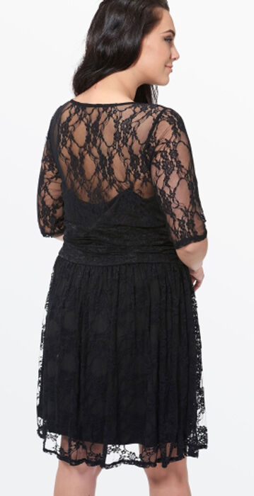 Midnight Black Lace Dress size Large or 4XL