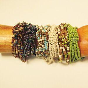 6PC-Handmade-Beaded-Multi-Color-Stretch-Elastic-Bracelets-WHOLESALE-LOT-6-Colors