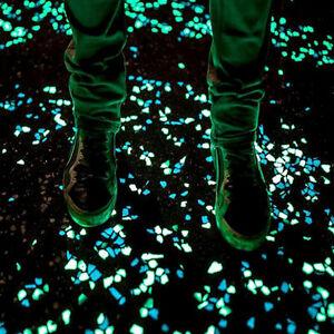 Pietre in vetro piatte per superfici fosforescenti fluorescenti per arredo nuove