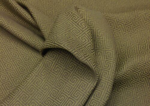 "OUTDURA TRACE COCOA YELLOW GREEK KEY OUTDOOR INDOOR FABRIC BY THE YARD 54/""W"