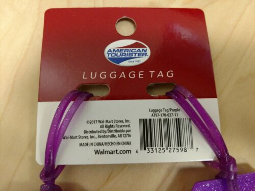 Adventure Awaits NEW American Tourister Pack of 2 Luggage Tags Purple