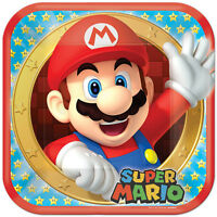 Super Mario Brothers (8pc) Lunch Dinner Large Paper Plates Birthday Supplies