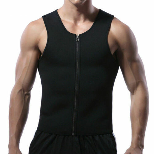 Men Ultra Sweat Thermal Shaper Muscle Trainer Shirt For Weight Loss Fitness A40