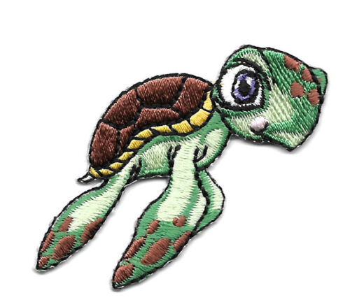 Children/'s Embroidered Iron On Applique Patch Sea Turtle Green Sea Turtle