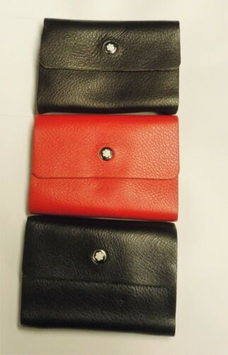 REAL LEATHER BUSINESS CARDS HOLDER WALLET WITH BUTTON IN 3 DIFFERENT COLOURS