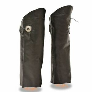 Black, X-Large Milwaukee Slash Pocket Leather Chaps with Removable Thermal Liner