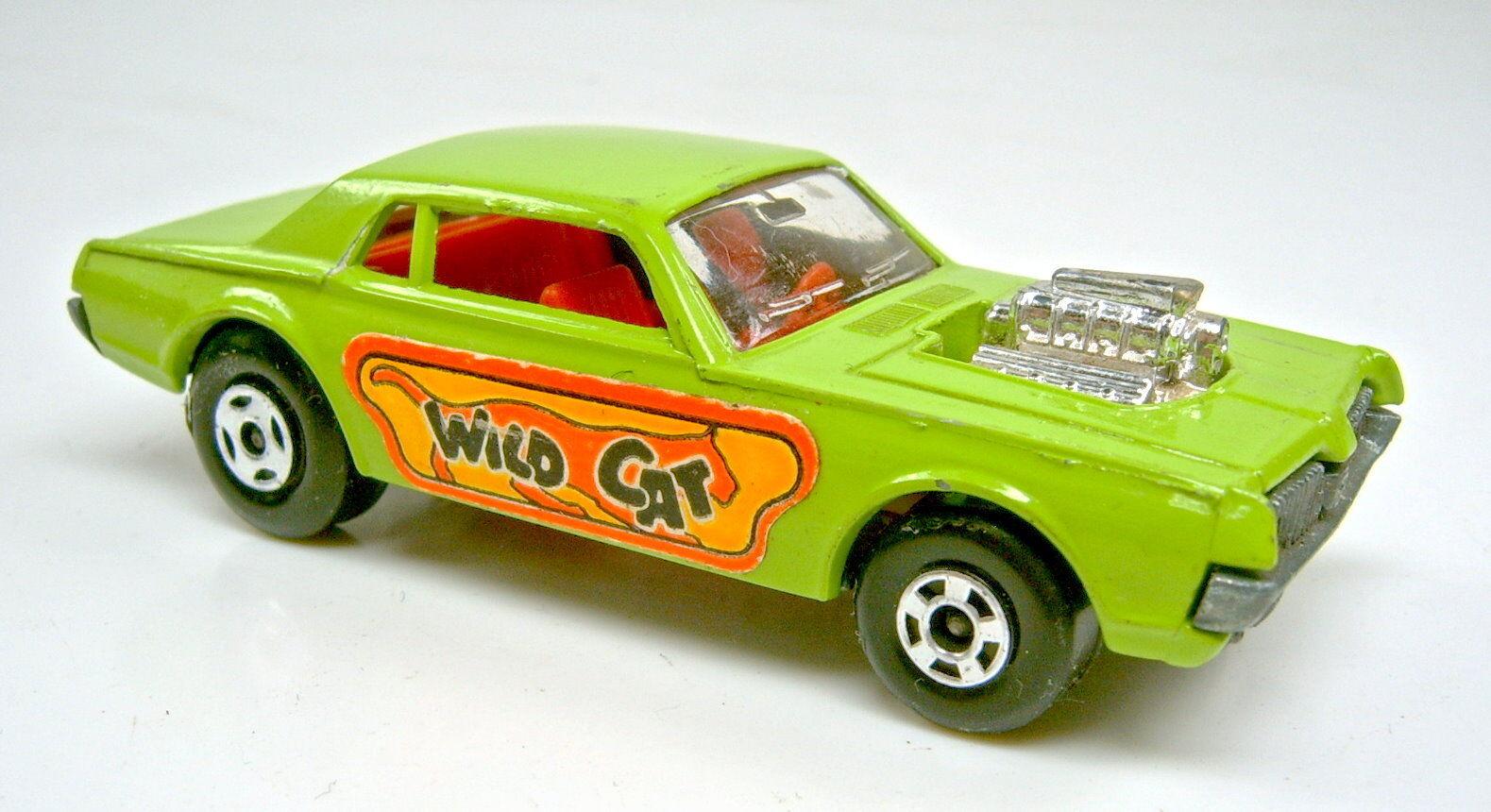 MATCHBOX SUPERFAST n. 62b Consiglio Rod DRAGSTER GIALLO verde  WILD CAT  ADESIVO