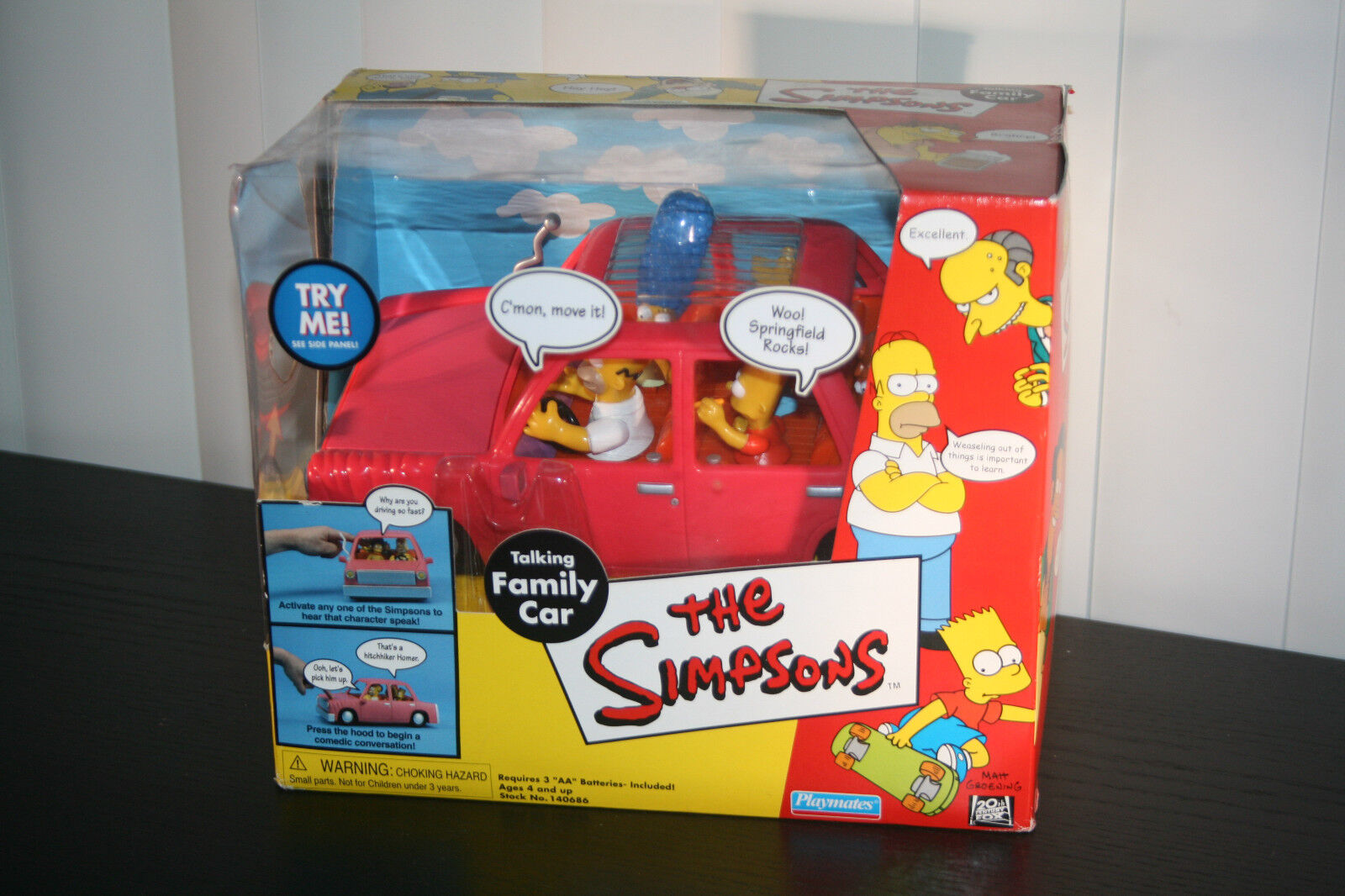 The SIMPSONS (2000) TALKING FAMILY CAR new, RARE
