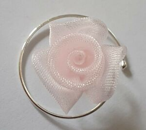 Rosen Curlis  Haarspiralen Haarschmuck Kommunion Hochzeit Blumenmädchen in Rosa