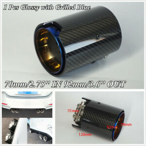 1-Pcs-Grilled-Blue-Stainless-Glossy-Carbon-Fiber-70mm-2-75-039-039-ID-Exhaust-Tip-Pipe