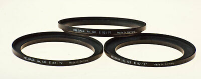 Brand New Highest Quality All Brass,German Made Heliopan 82-62mm Stepping Ring