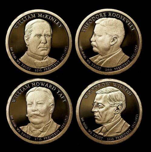 2013 S Presidential Proof Set w//US Mint Box /& COA McKinley Roosevelt Taft Wilson