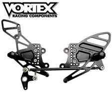 08 - 15 Honda CBR1000RR Vortex Black Rearsets Complete Kit RS273K