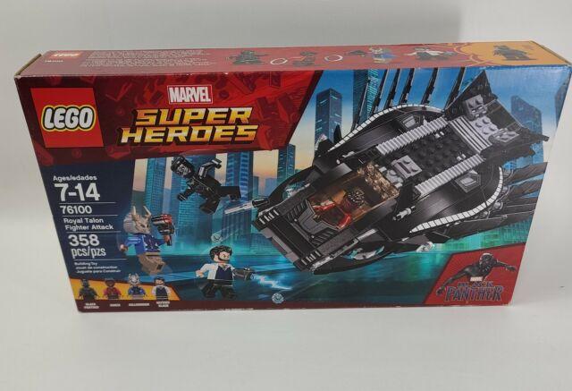 Lego Marvel Super Heroes Black Panther Royal Talon Fighter Attack 76100 New NIB