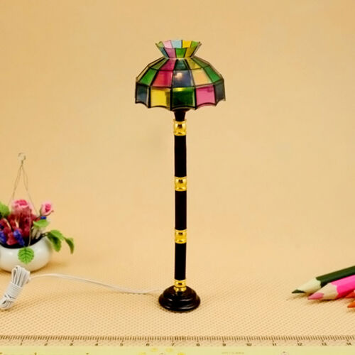 Battery Operated Mini LED Floor Lamp Light Model For Dollhouse Decor Toys Kids