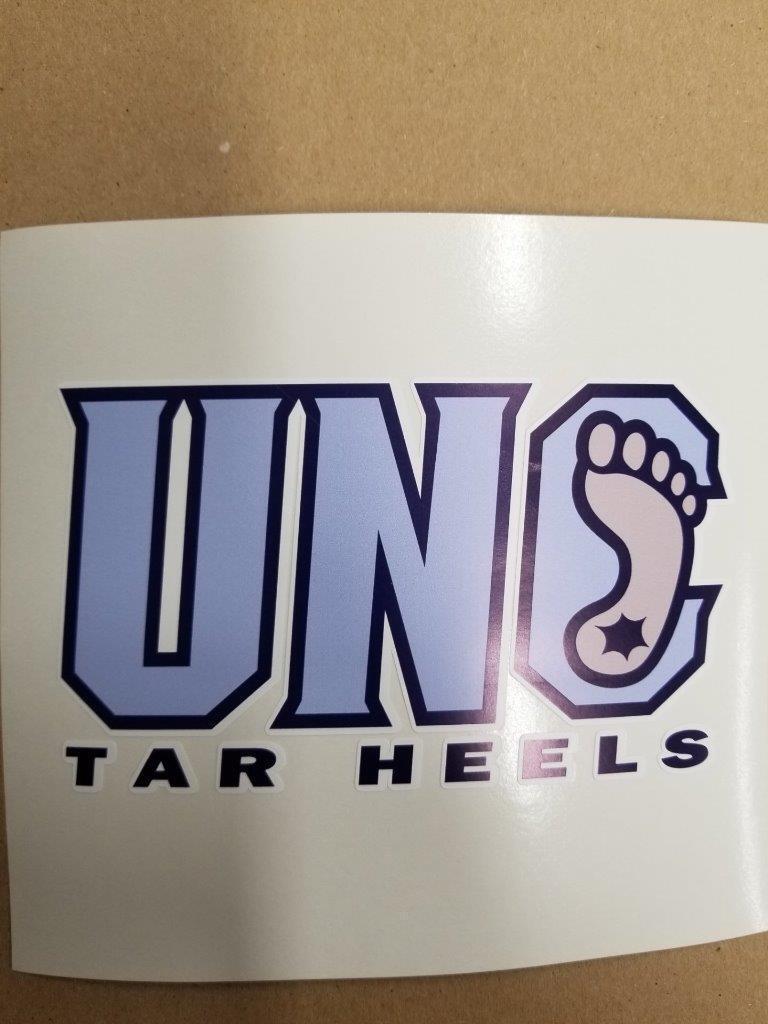 North Carolina Tar-Heels cornhole board or vehicle decal(s)NC5