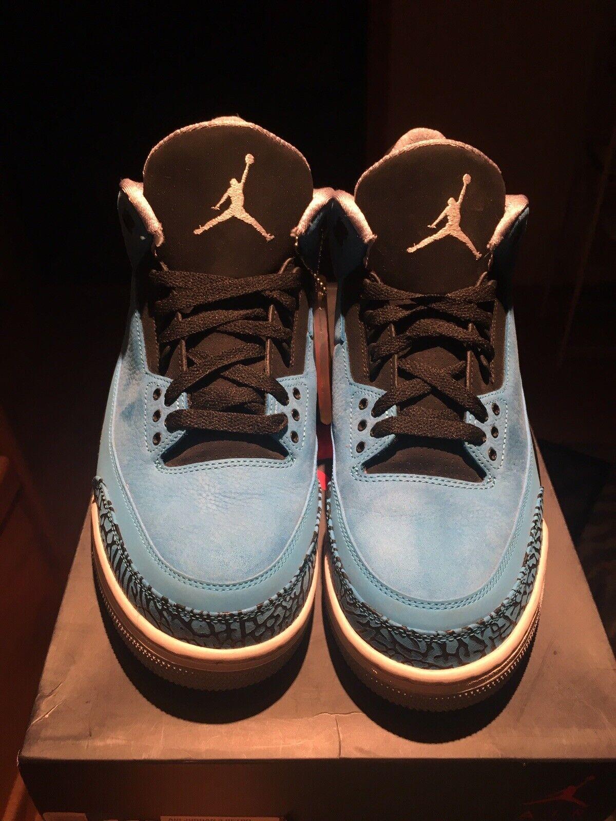 Air Jordan 3 Powder blu Dimensione 11.5 Sautope classeiche da uomo