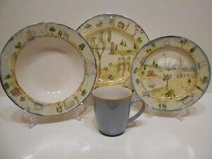 222 Fifth Pts Porters Village 15pc Dinnerware Set Lighthouse
