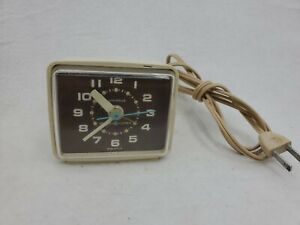"Vintage GE General Electric Alarm Clock ""Luminous"" Brass Dials # 7370 Art Deco"