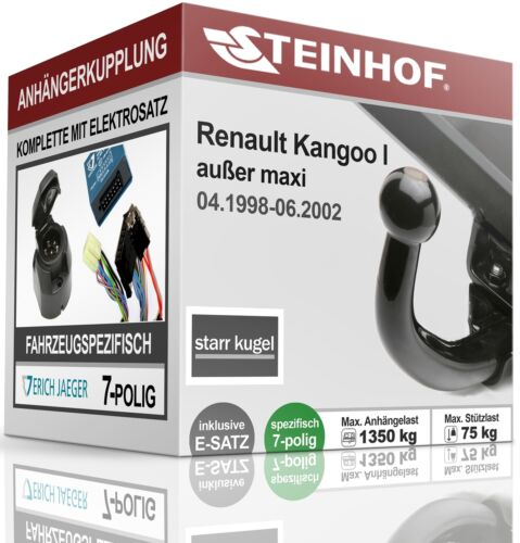 AHK fest Für Renault KANGOO I 04.1998-06.2002+E-SATZ 7polig FAHRZEUGSPEZIFISCH