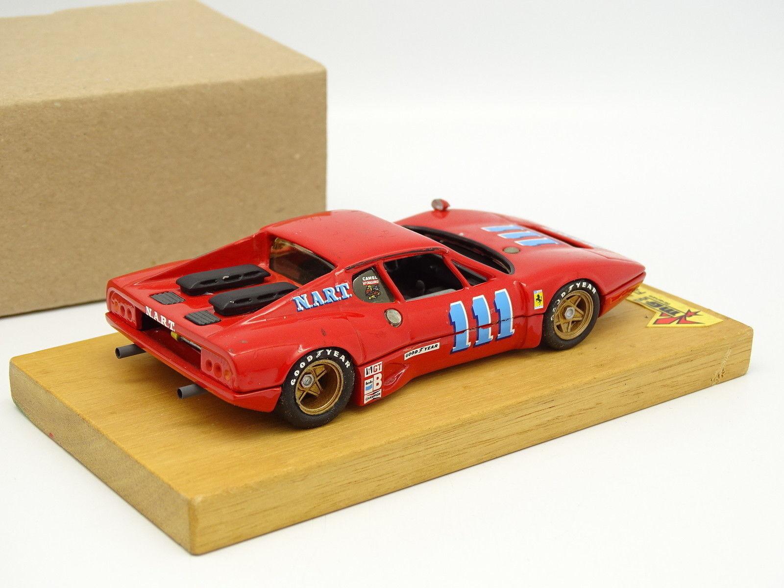 MG Modelle Set aufgebaut aufgebaut aufgebaut Metall 1 43 - Ferrari 512 BB NART Nr.111 Sebring 1975 ab7582