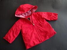 JACADI Wunderschöne rote Übergangsjacke leicht wattiert Gr.6M 68 TOP