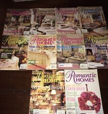 ROMANTIC HOMES Magazine 2001 10 Issues of Shabby Cottage Vintage Chic Decor