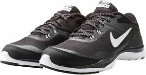 95bab3c91a002 Womens Nike Flex Trainer 5 Black White Grey running training 724858 ...