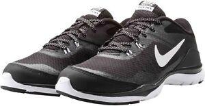 Détails sur Femme Nike Flex Trainer 5 Noir Blanc Gris Running Training 724858 001 afficher le titre d'origine