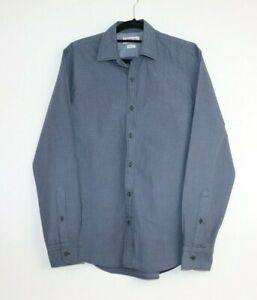 Industrie Men's Long Sleeve Check Blue Button Up Shirt Size S