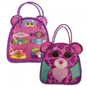 94c07b8be17 TY Beanie Boos Purple Cat Bag Hair Accessories 6 Pony-o s 4 ...