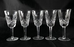 5-stunning-vintage-Lead-Crystal-liqueur-spirit-shot-glasses