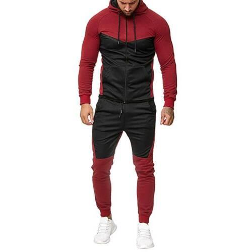 Herren Fitness Jogginganzug Sportanzug Trainingsanzug Hoodie Sweatshirt Hosentop