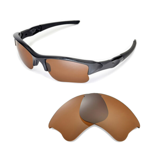 b3656d5399d New Walleva Polarized Brown Replacement Lenses For Oakley Flak Jacket XLJ