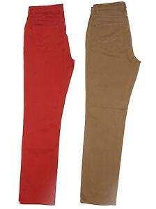 damen jeans leichte hose leicht rot braun gr 40 42 46 l nge 32 ebay. Black Bedroom Furniture Sets. Home Design Ideas