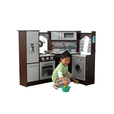 Kidkraft Espresso Ulitmate Corner Play Kitchen w/lights and sounds