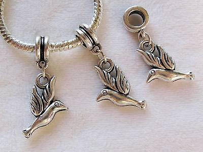 10PCS Tibetan Silver Cute Puppy Dog Charms Dangle Beads Fit European Bracelet