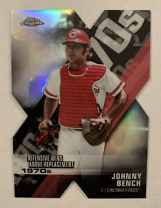 2020 Topps Chrome Johnny Bench Decade of Dominance Die-cut #DOD-6 Reds