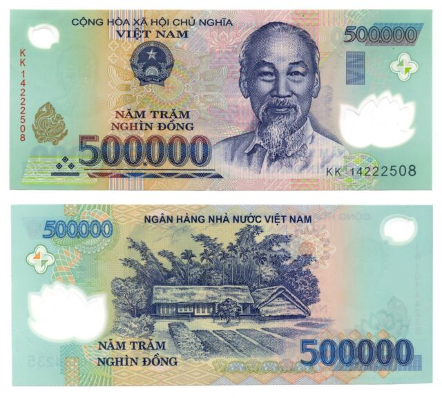 VietNam Dong, 1 Million, 2 x 500,000 Circulated Banknotes Fast Ship!! L3