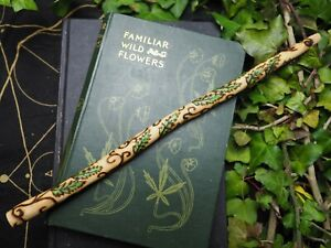 Wild-English-Dog-Rose-Spiral-Wand-Love-Magic-Pagan-Wicca-Witchcraft-Avalon
