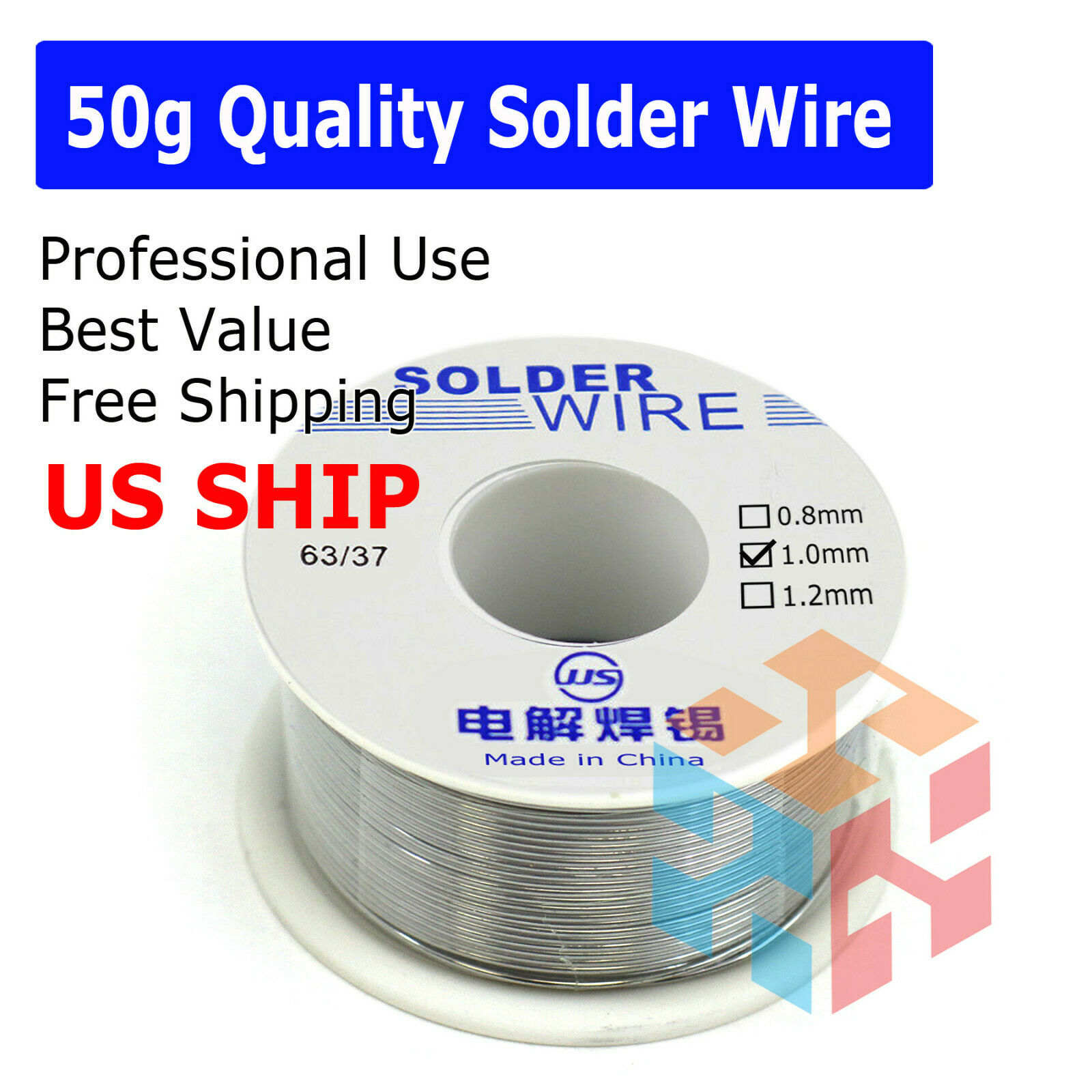 SainSmart 0.6mm Lead Free Solder Wire with Rosin2 Sn97 Cu0.7 Ag0.3 Tin Wire ...