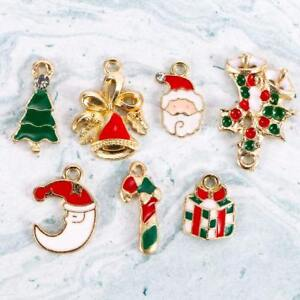 19pcs-Cute-Alloy-Metal-Mixed-Christmas-Tree-Pendants-Party-Decor-Ornament