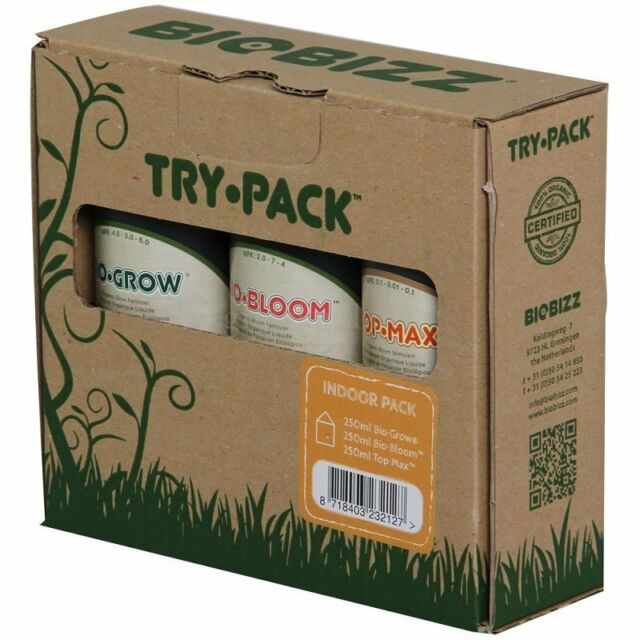 BIOBIZZ - Try·pack: decanted Indoor·Pack 100ml grow bloom and top max