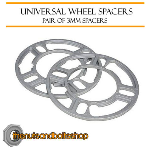 Wheel Spacers 3mm Pair of Spacer 4x114.3 Mitsubishi Lancer 1.3//1.6 4 Stud 03-07