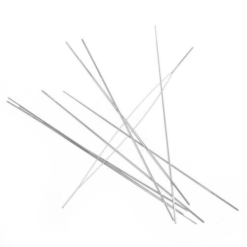 Lotti all/'ingrosso perline aghi filettatura Stringa//Corda d/'Argento Tono
