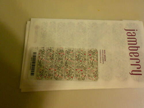 new 1//2 Sheet LOVE LETTERS Jamberry Nails