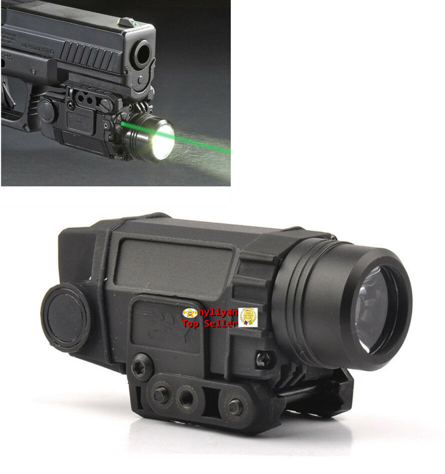 Tactical LED FlashLight&green laser sight 20mm Rail For Pistol Gun Hunting