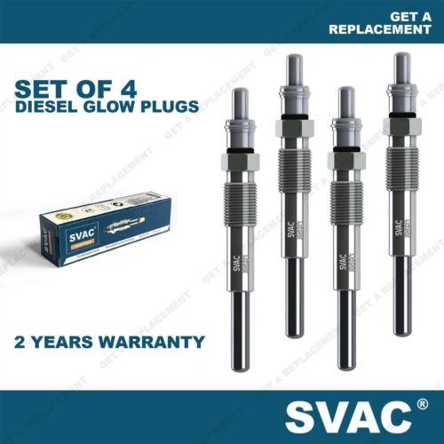 SVAC 4x Diesel Glow Plugs Citroen C5 C6 C8 C-Crosser Outlander Peugeot 407 807
